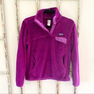 Patagonia Small Purple Soft Synchilla Pullover